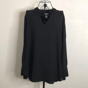 H&M Long Sleeve V Neck Blouse
